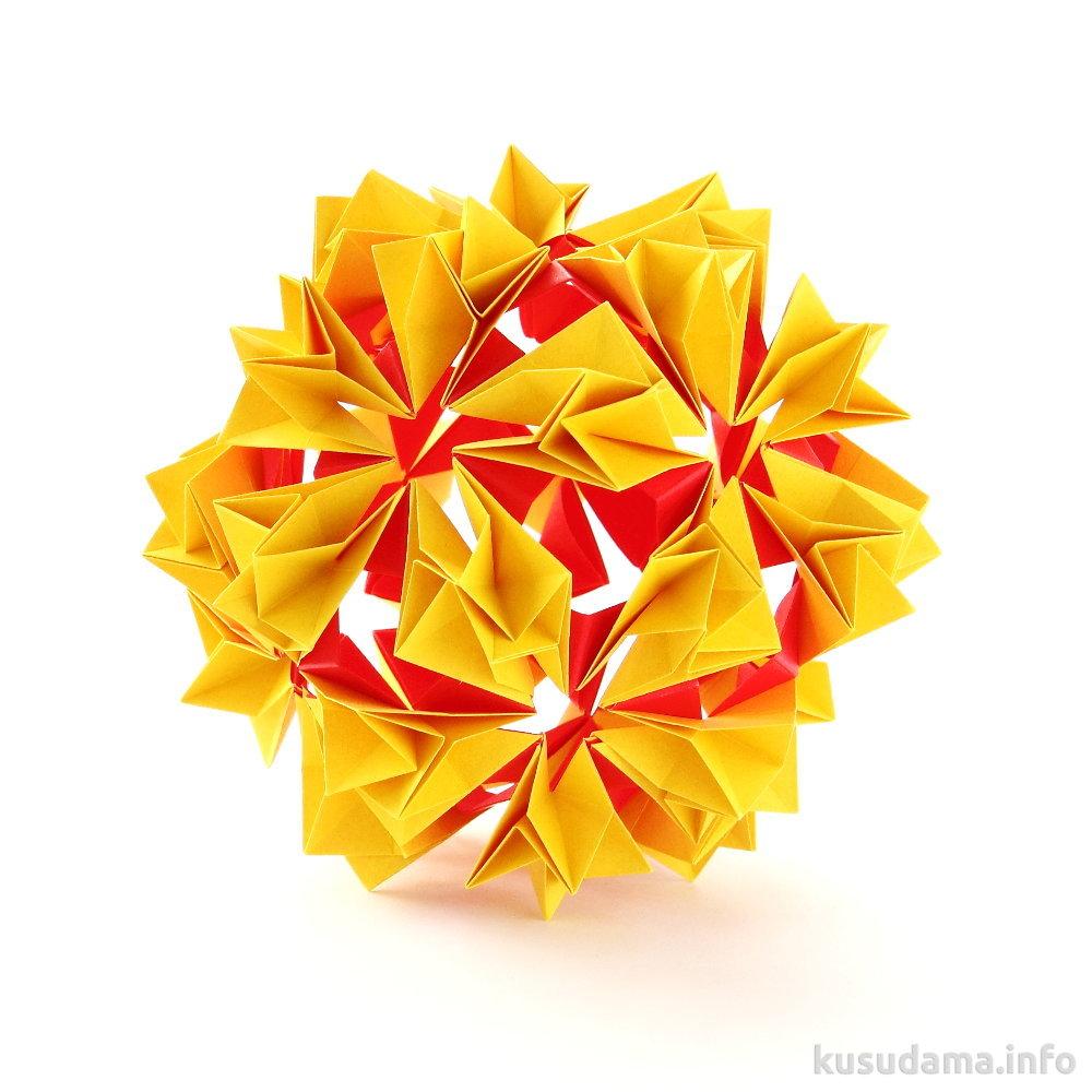схема модульного оригами велосипед