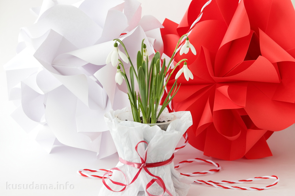 Martisor from kusudama Ghiocel