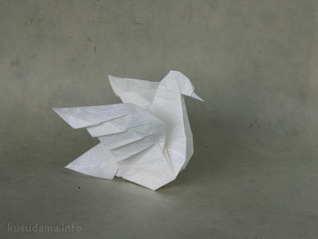 оригами схема кусудама из роз
