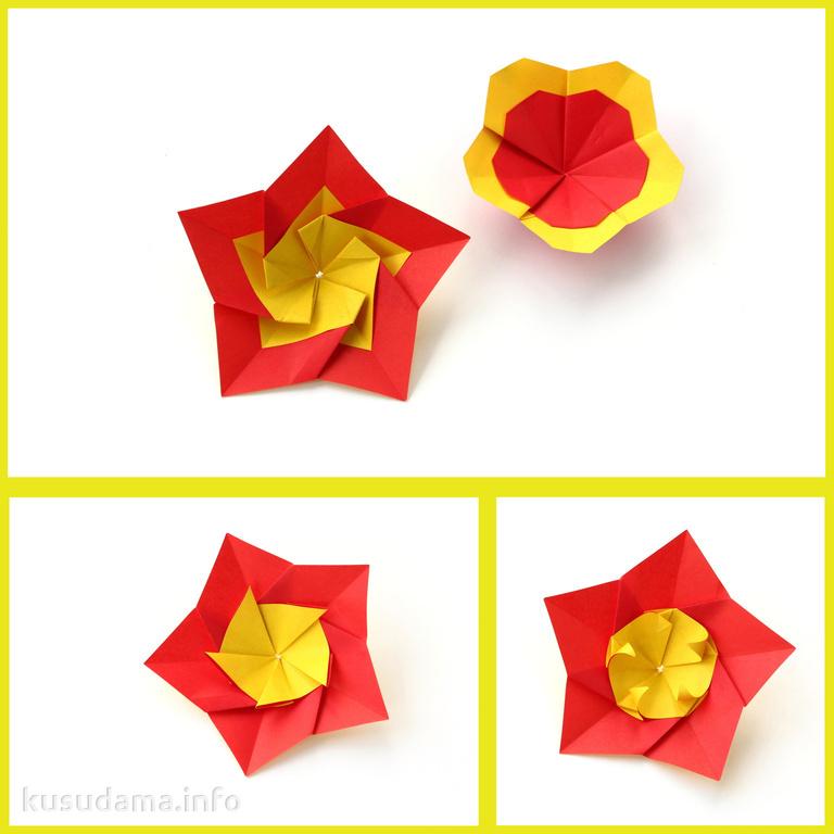 Оригами лёгкие цветы