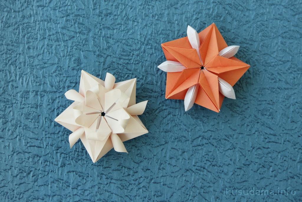 Modular origami stars (flowers)