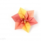 Modular origami flower