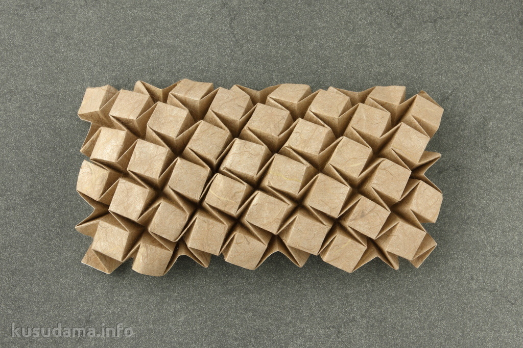 гофрировка оригами из бумаги