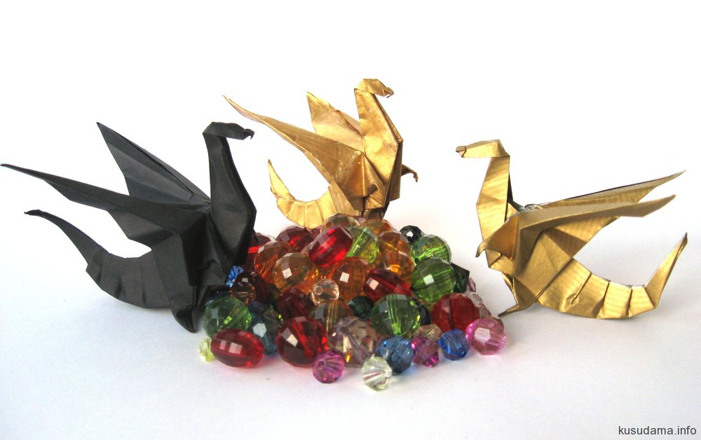 Golden and Black Dragons